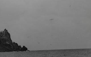 Fotografía del OVNI de la isla de Trinidad tomada por Almiro Baraúna el 16 de enero de 1958