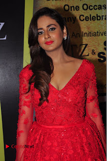Actress Model Parul Yadav Stills in Red Long Dress at South Scope Lifestyle Awards 2016 Red Carpet  0047.JPG