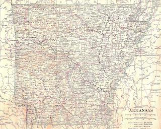 map antique arkansas download illustration