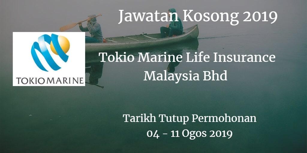 Jawatan Kosong Tokio Marine Life Insurance Malaysia Bhd 04 - 11 Ogos 2019
