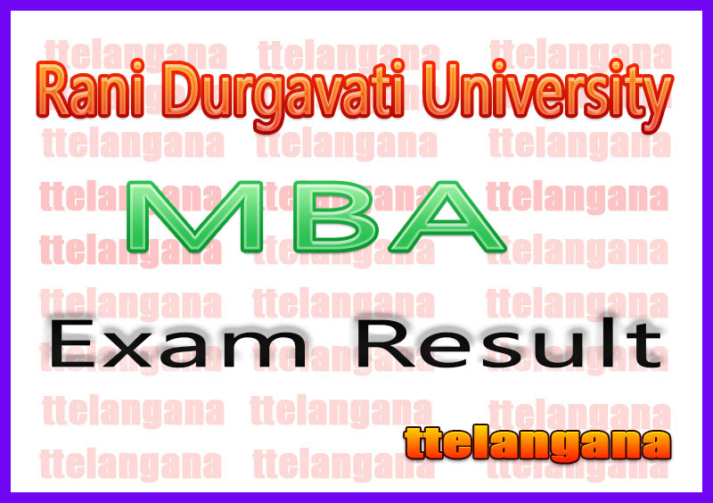 Rani Durgavati University M.B.A.Exam Results