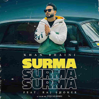 Khan Bhaini Surma Lyrics Status Download Song Akha terian ne gabru da dil luteya ni dil luttya ae surma pake WhatsApp video black background.
