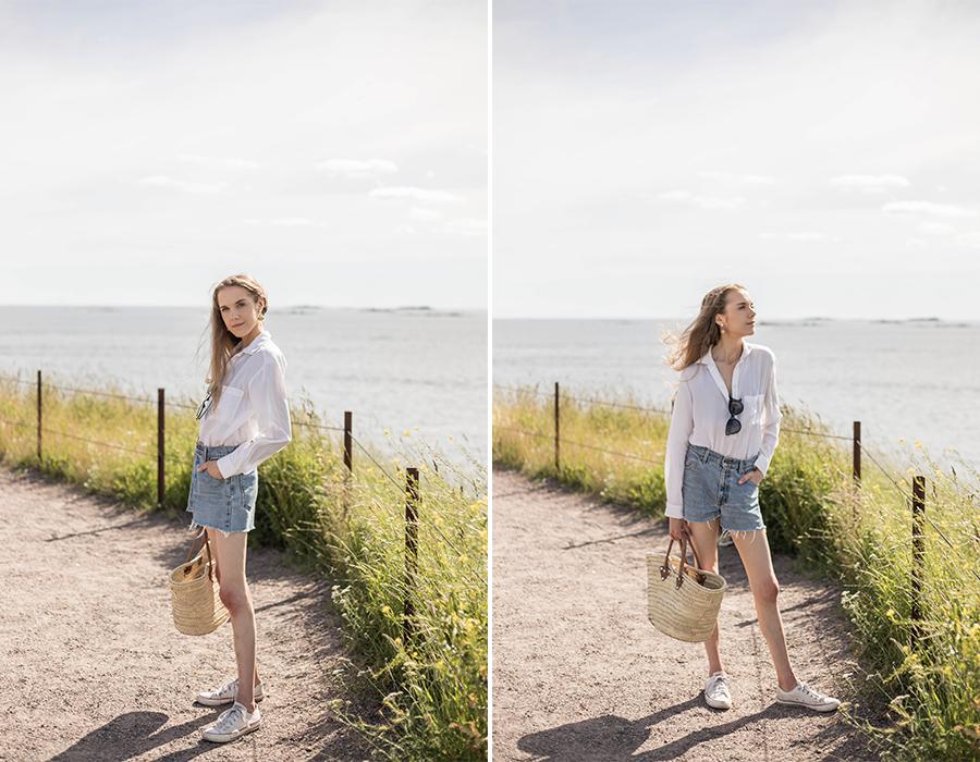 Klassinen ja ajaton kesätyyli // Classic and timeless summer outfit