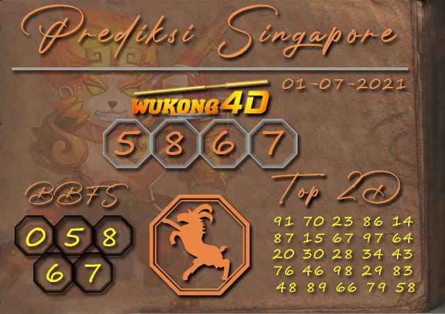 PREDIKSI TOGEL SINGAPORE WUKONG4D 01 JULI 2021