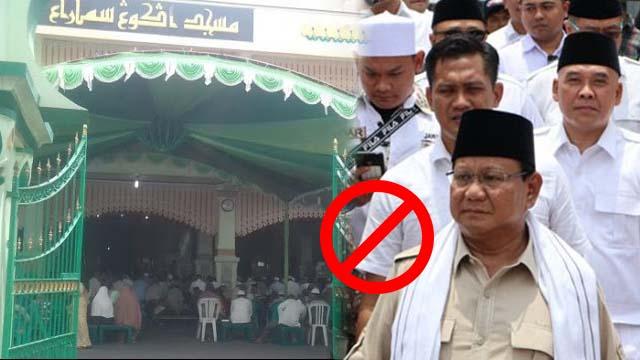 Aneh, Pak Prabowo Mau Shalat Jumat Kok Dilarang?