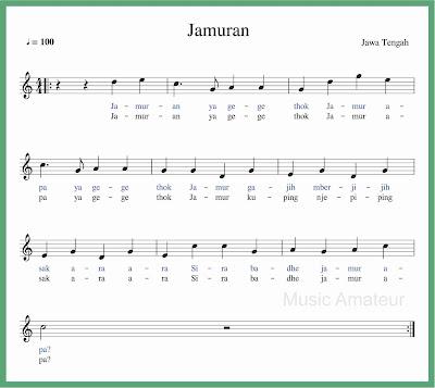 not balok lagu jamuran