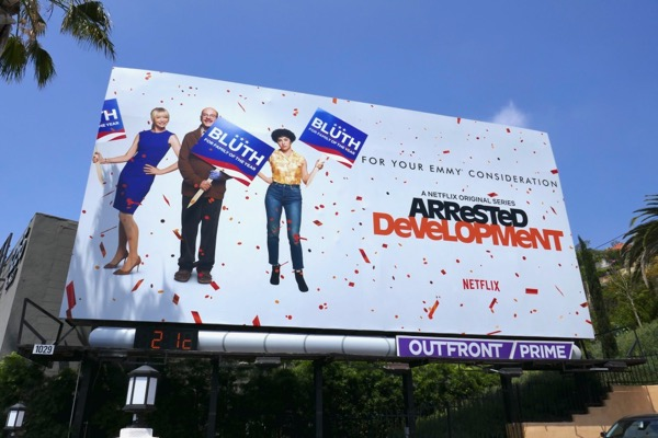 Arrested Development season 5 Emmy FYC billboard