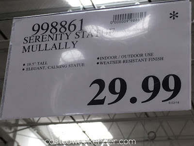 Deal for the Inside Outside Garden Serenity Statue Mullally at Costco