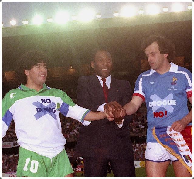 Maradona Pelé Platini 1988
