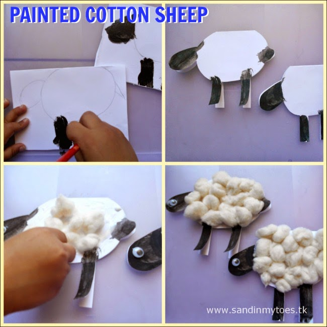 How to make Painted Cotton Sheep