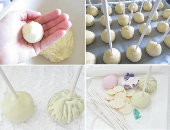 Easter Desserts Table & Bunny Cake Pop Tutorial - via BirdsParty.com