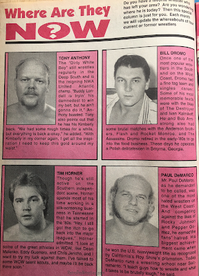 Inside Wrestling  - November 1998 -  Where Are They Now?