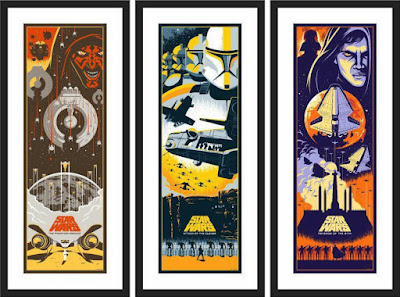 Star Wars Episode I, II & III Prequel Screen Print Set by Eric Tan x Bottleneck Gallery