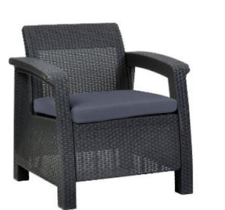 Corfu Patio Armchair with Cushions