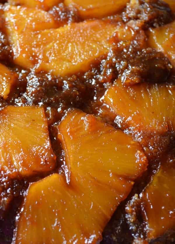 Fresh Pineapple Upside Down Cake from Scratch is a family favorite dessert recipe! This cake recipe is super popular at Christmas. Delicious with vanilla ice cream or plain from Serena Bakes Simply From Scratch.