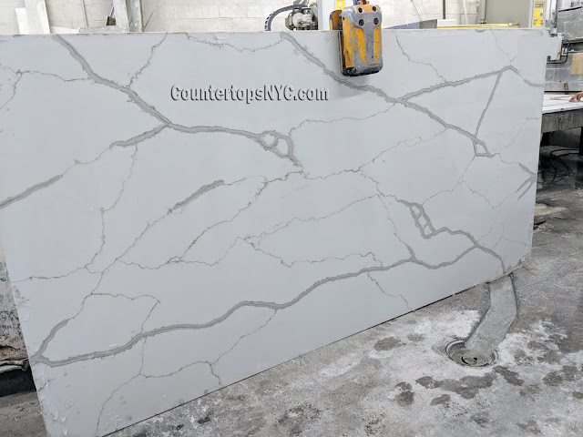 Quartz countertops that look like white marble NYC
