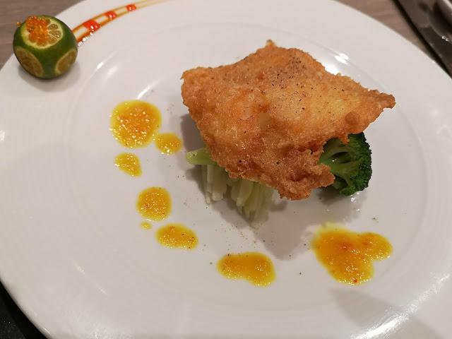 香茅烤胡椒鲈鱼扒