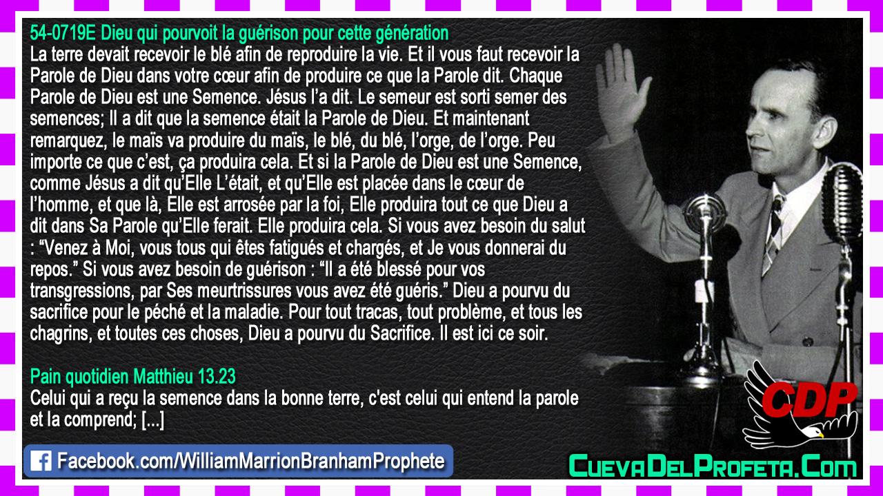 Chaque Parole de Dieu est une Semence - William Marrion Branham