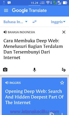 Google translate: Menggunakan Kamera Smartphone untuk Menerjemahkan Bahasa Secara Instan