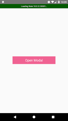 React Native Modal Example To Display Image