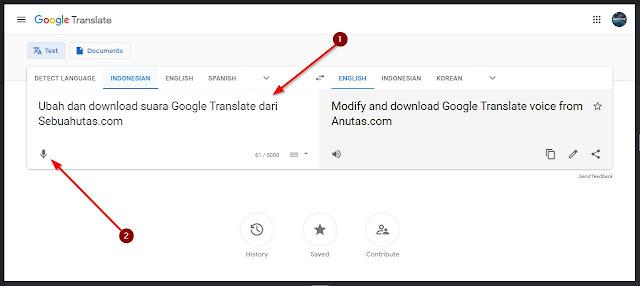 buat suara google translate tanpa aplikasi