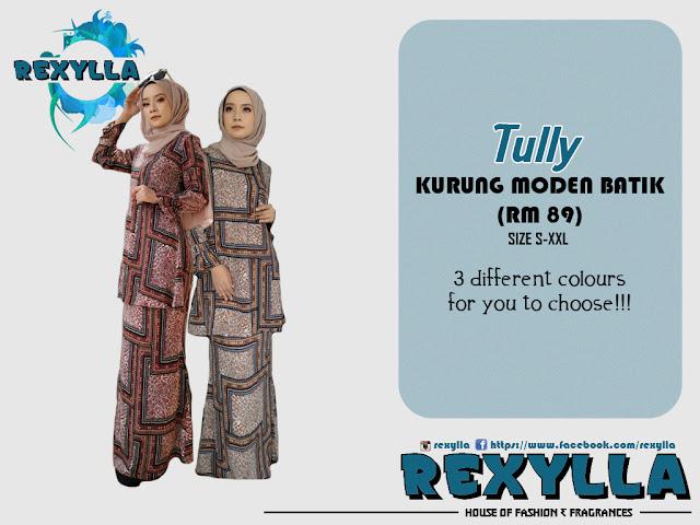 rexylla, baju kurung, kurung moden, batik, batik print, tully collection