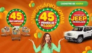 Cadastrar Promoção Aniversário Sonda 45 Anos 2019 - Jeep Renegade Vales-Compras