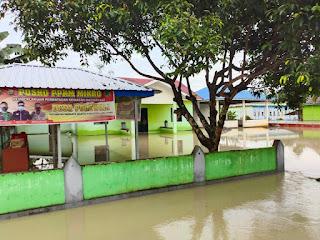 Kapolsek Baebunta, Menyampaikan 4 Wilayahnya Terendam Banjir