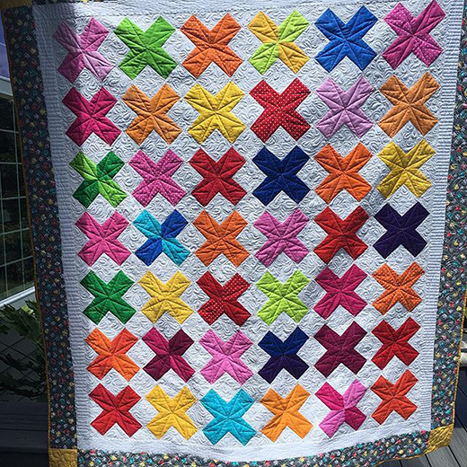 All My X's Quilt made by Lisa Bird, The Tutorial designed by Jenny of Missouri Quilt Co