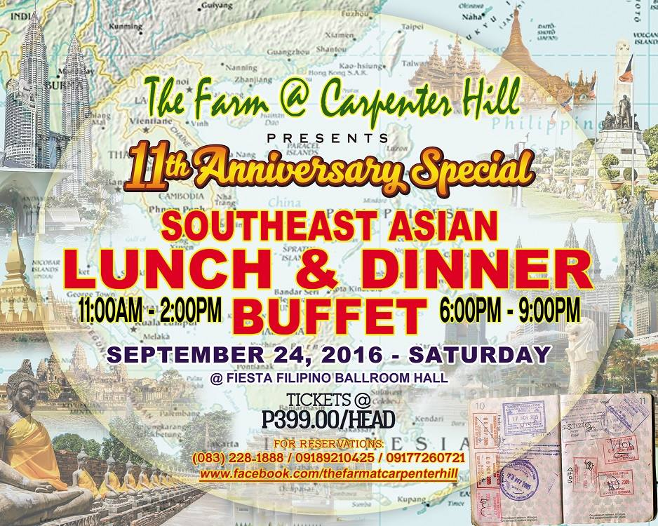 P399 Southeast Asian Buffet at The Farm @ Carpenter Hill on September 24