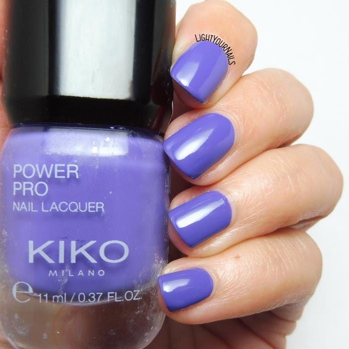 Smalto viola lacca Kiko Power Pro 112 Violet Landscape purple creme nail polish #kikonails #kikocosmetics #kikopowerpro #kikomilano #nails #unghie #lightyournails