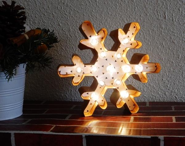 Déco de Noël : flocon lumineux