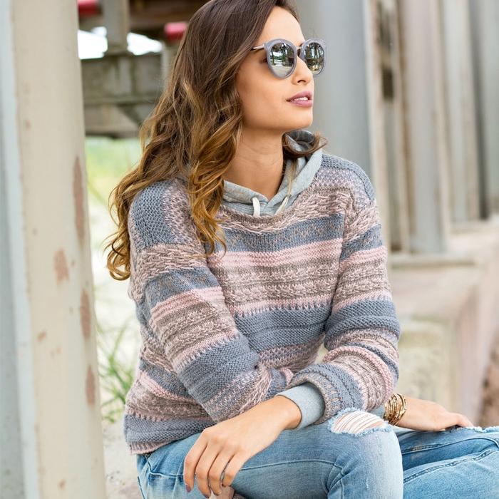 мастера и умники красивые джемпер и свитер вязаные спицами