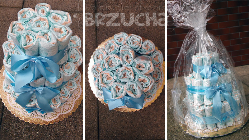 Jak zrobić tort z pieluszek?