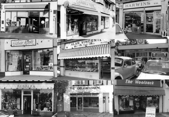 Montage of Brookmans Park shops 1994
