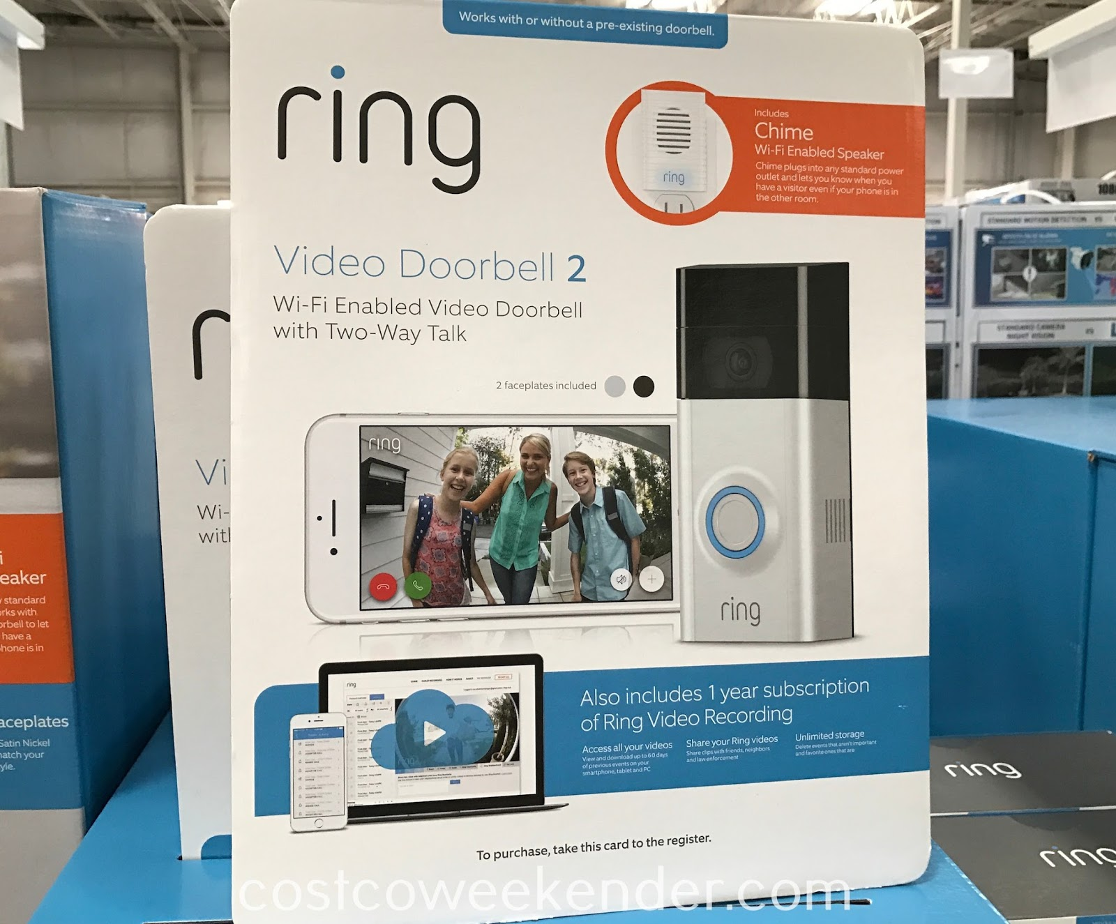 Outfit your home's entrance with the Ring Video Doorbell 2 + Chime