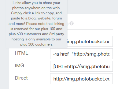 Photobucket p500 p100 third party hosting linking direct hyperlink url PhotoFuckIt