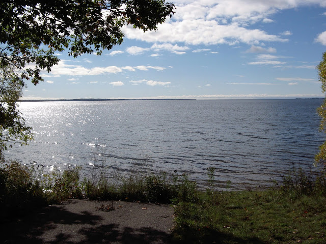 Great Lake with light dappling water