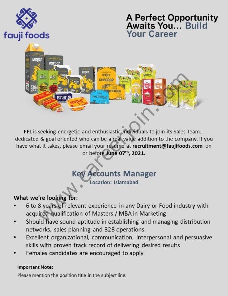 recruitment@faujifoods.com - Fauji Foods Ltd Jobs 2021 in Pakistan