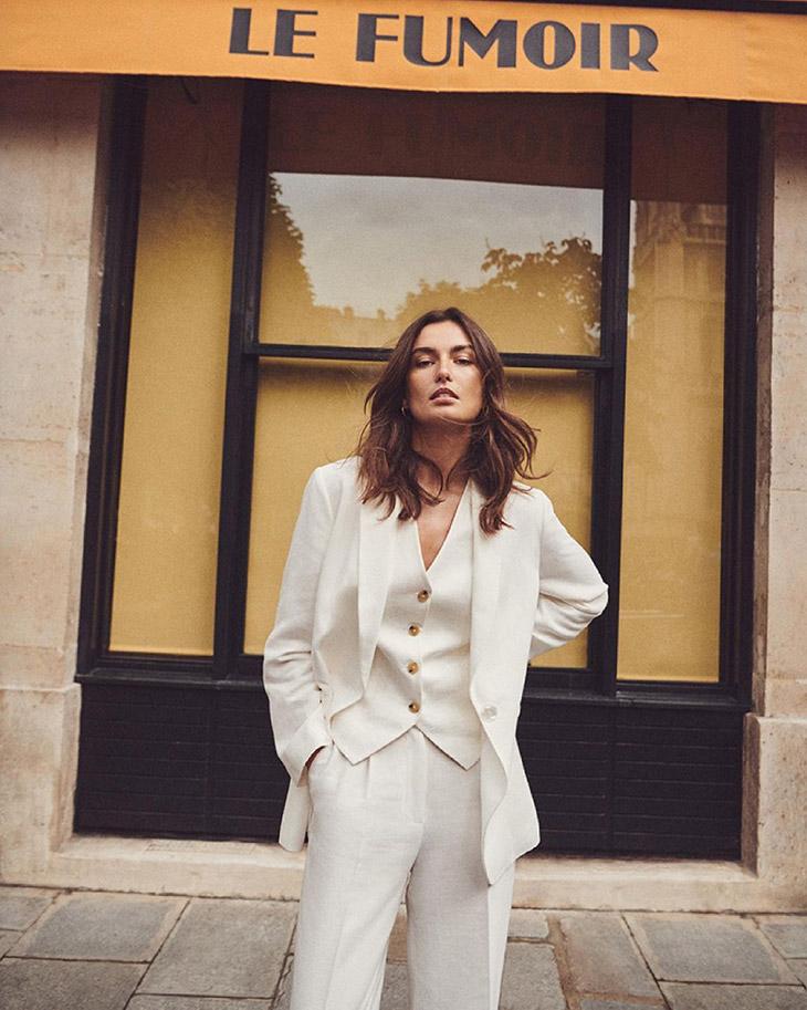 Andreea Diaconu Models MASSIMO DUTTI Summer 2021 Collection