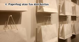 Paperbag atau Tas dari Kertas bisa menjadi pengganti kantong plastik