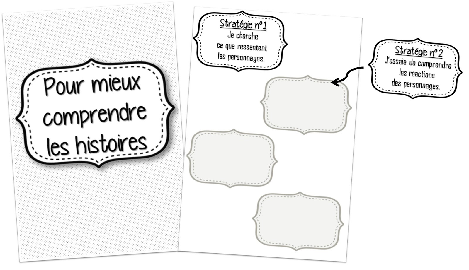 La page de garde pour les élèves et le support pour coller les stratégies  au fur et à mesure