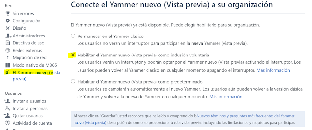 Activar nuevo Yammer parte 2