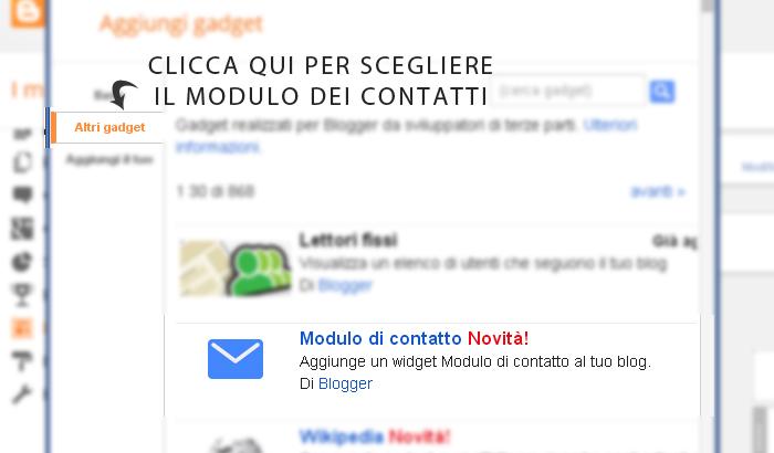 tutorial inserire form contatti pagina blogger - Simona S.