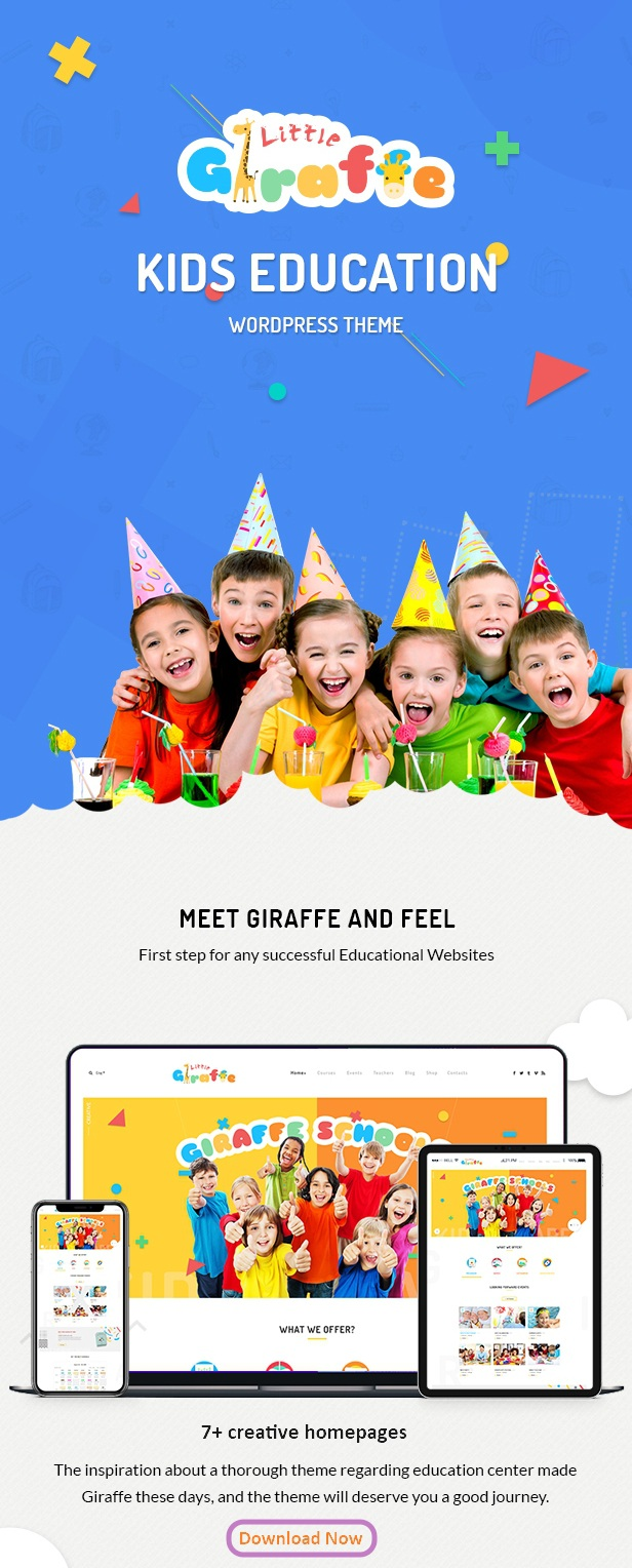 Kindergarten Education WordPress Template