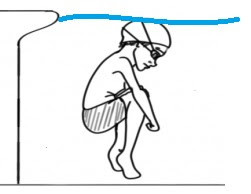 Image of a child bobbing in the pool for one of my games for swimming lessons