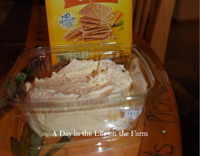 asiago/artichoke dip with crackers