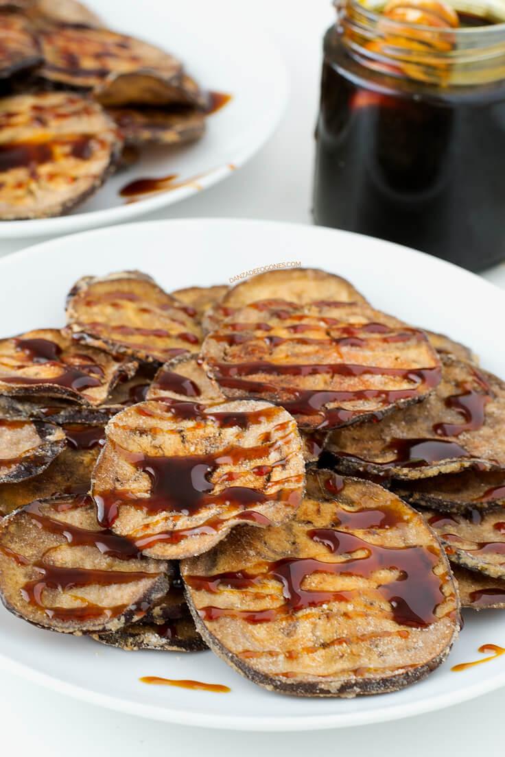 Eggplants with cane honey