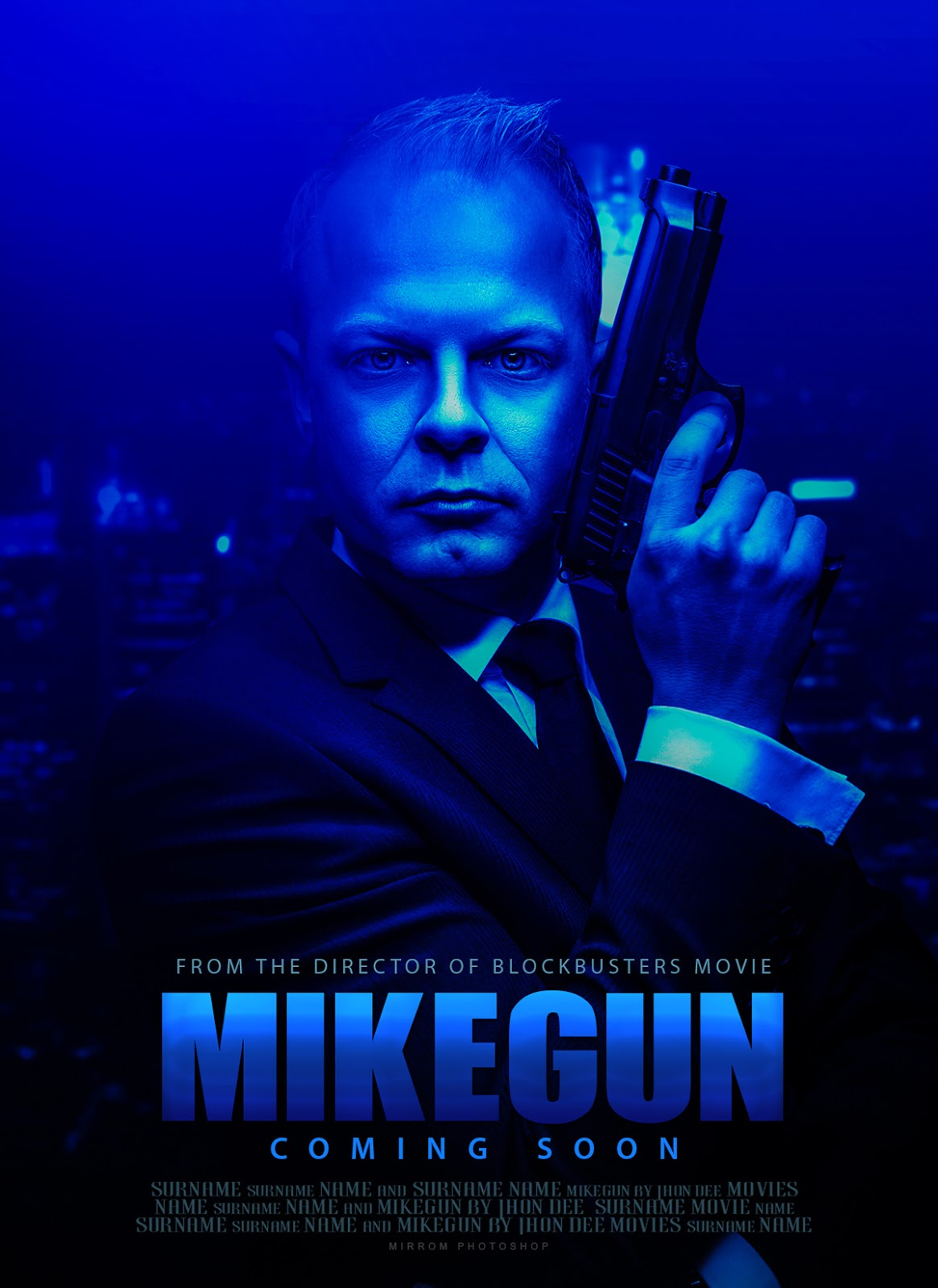 Make a Blue Tone Movie Poster Concept in Photoshop