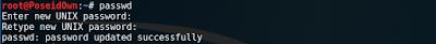 secure kali linux passwd change